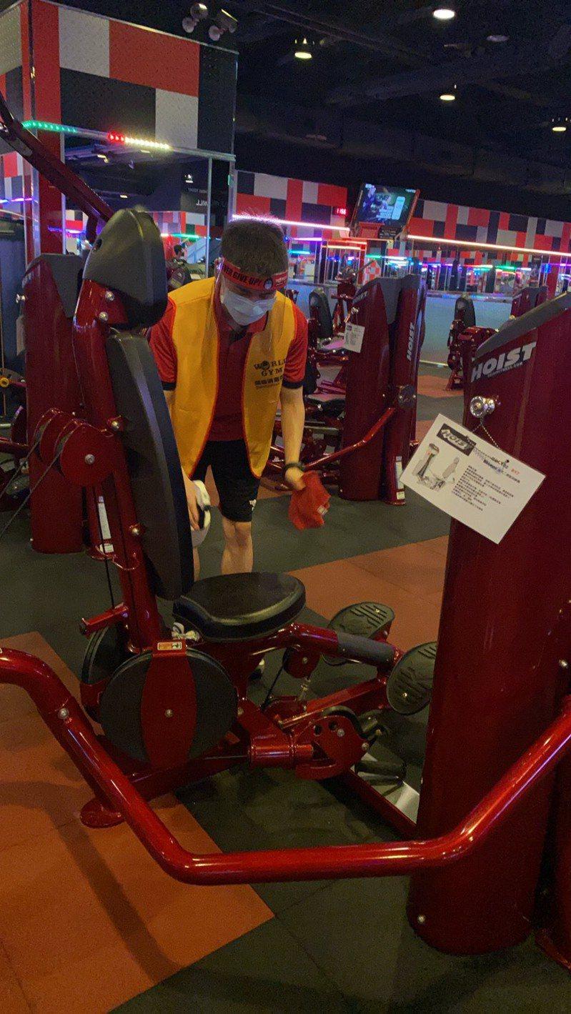 World Gym表示,對於「微解封」,業者配合政府規定辦理。圖/World Gym提供