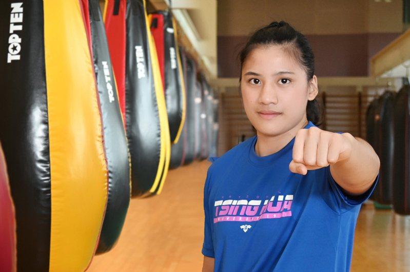 有「拳擊女王」稱號的陳念琴19日將出發征戰2021東京奧運。圖/清大提供
