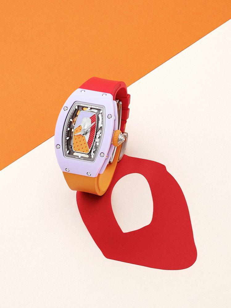 從機芯、表殼、表帶,大量的撞色手法,讓RM 07-01 Coloured Cer...