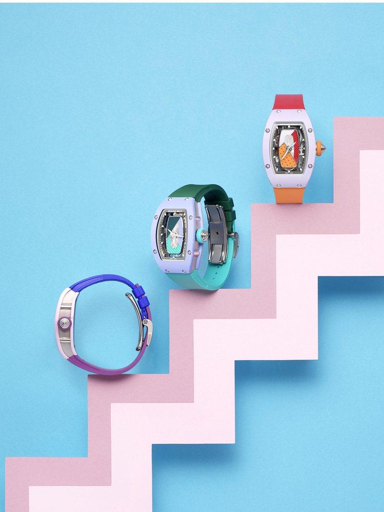 RICHARD MILLE推出以明快色彩為主軸的RM 07-01彩色陶瓷女士腕表...