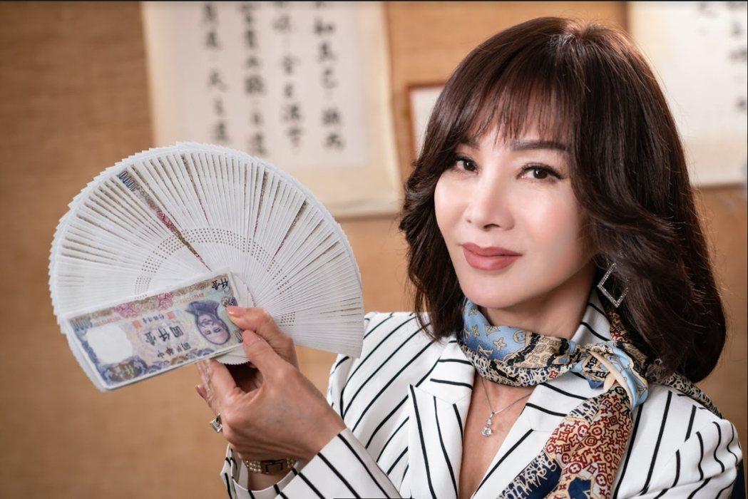 陳美鳳當年作秀收現金收到手軟。圖/民視提供