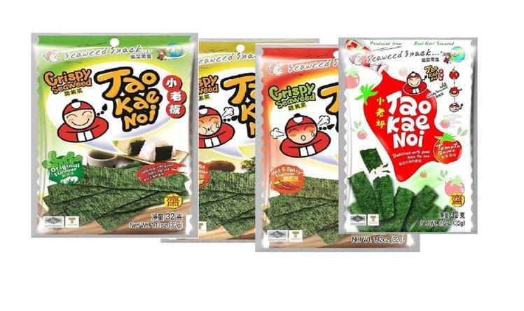 momo購物網「2021進口零食消費指標榜」熱銷第五名:「泰國小老板厚片海苔」。...