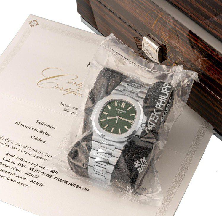 百達翡麗金鷹系列5711-1A-014腕表,在安帝古倫拍賣行近期起拍價約為168...