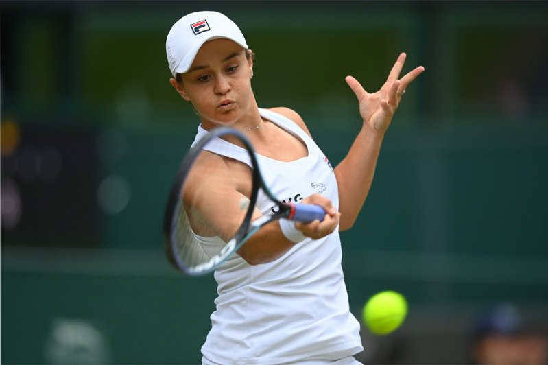 澳洲世界球后芭蒂奪溫網后冠。 法新社