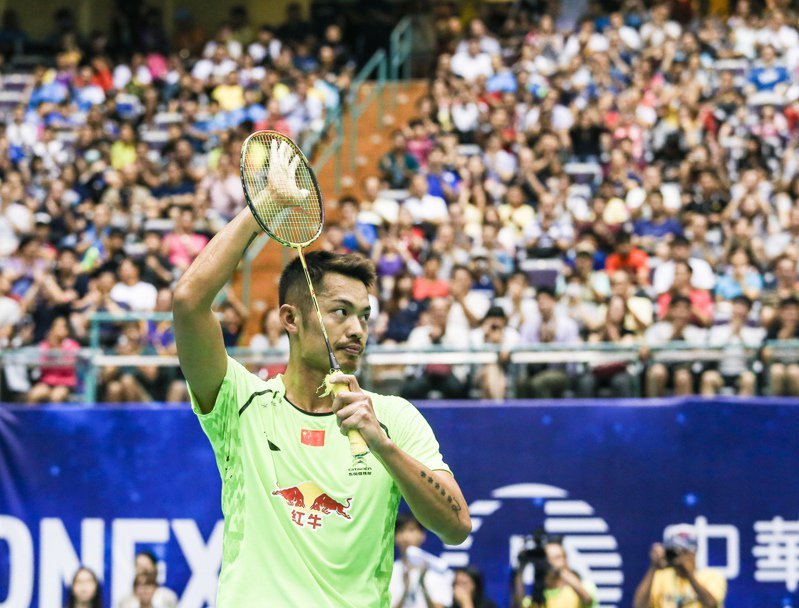 中國羽球球星「超級丹」林丹2015年參加台北羽球公開賽,林丹去年宣布退休,不能參加東京奧運。 圖/聯合報系資料照片