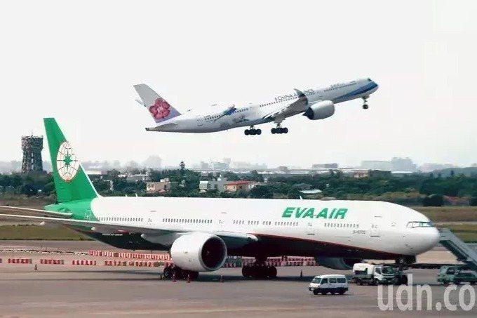 航空業去年貨運營收大成長,成了業者在疫情下的救命繩。圖/聯合報系資料照片