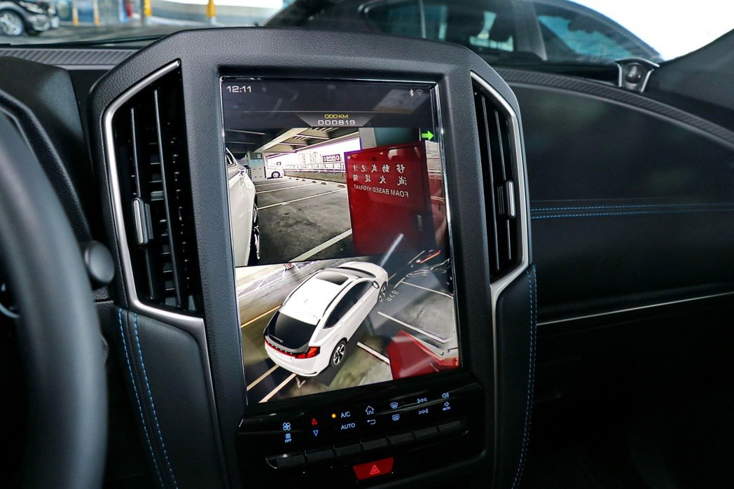 AR View+行車AR影像系統擁有豐富視角。 記者陳威任/攝影