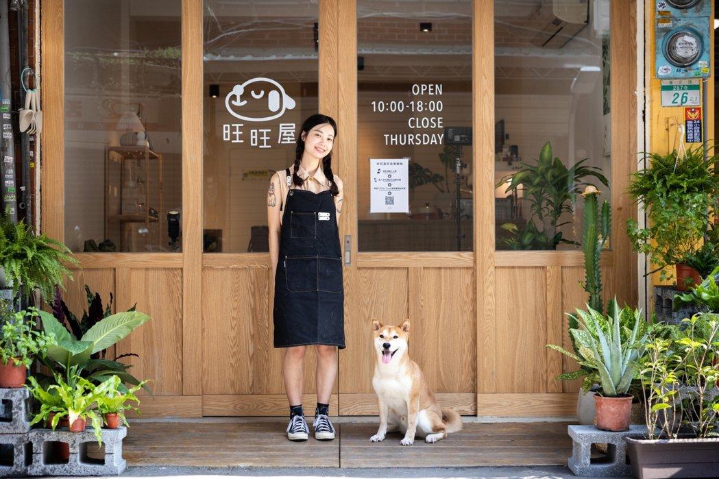 位在萬華火車站附近,康定路巷內充滿溫暖氛圍的「旺旺屋Café」。圖/沈昱嘉攝影