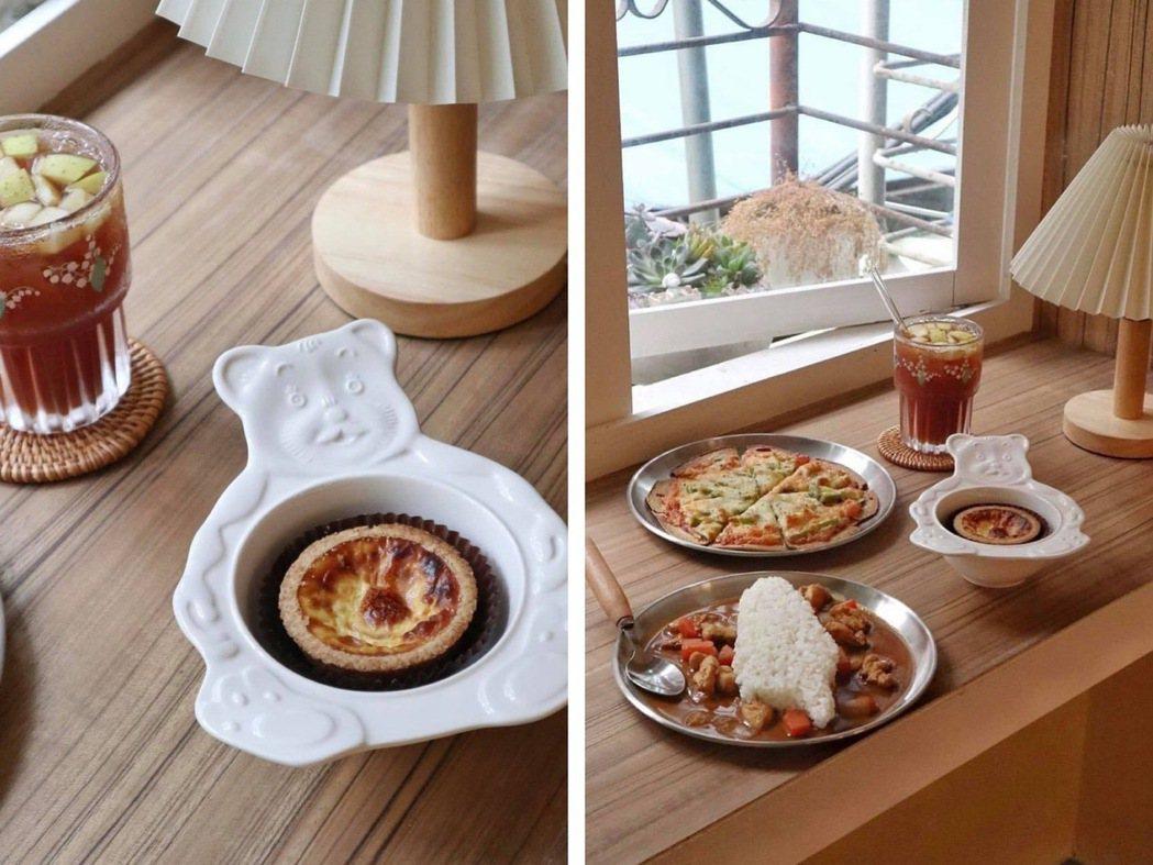 台灣造型的日式咖哩飯,是旺旺屋Café的打卡特色美食。圖/IG帳號:tsai_l...