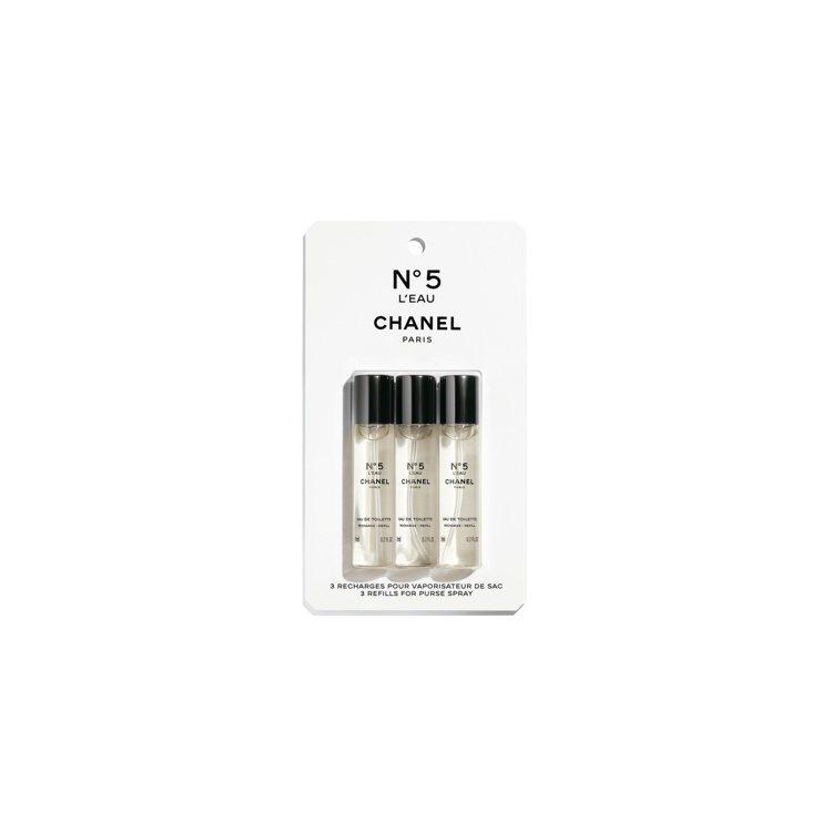 香奈兒N°5 清新晨露精巧淡香水補充瓶5號工場限定版/3X7ml/2,700元。...