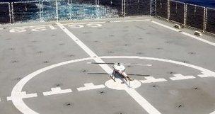金大表示,無人機具有飛行速度快、偵蒐距離長、操作成本低廉等優點,非常適合做為海洋巡護之輔助執法工具。圖/金大提供
