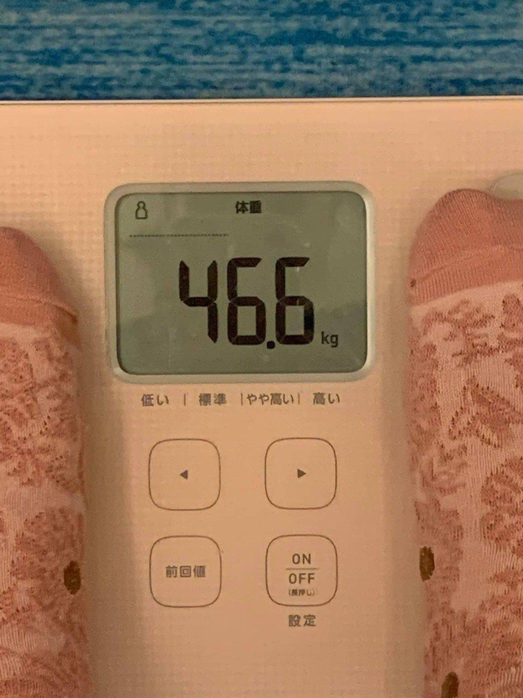 賴琳恩公布最新體重,防疫期間不胖反瘦3公斤。圖/摘自臉書