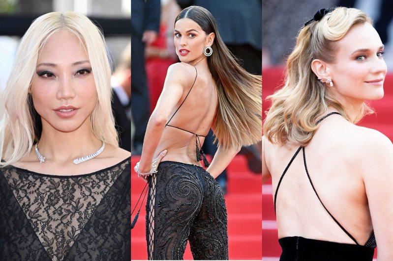 黑色是不敗的時尚色,今年許多女星選擇以白鑽襯托黑色禮服登上紅毯。圖/香奈兒、CHAUMET提供、取自IG