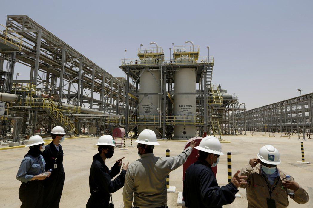 沙烏地阿美石油公司液化天然氣廠。(美聯社)