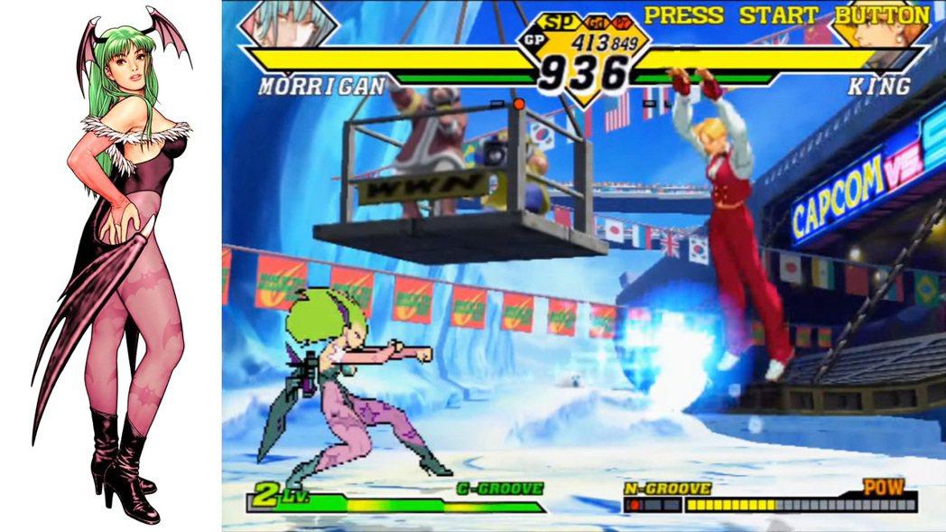 《CAPCOM vs SNK 2》中的莫莉卡。