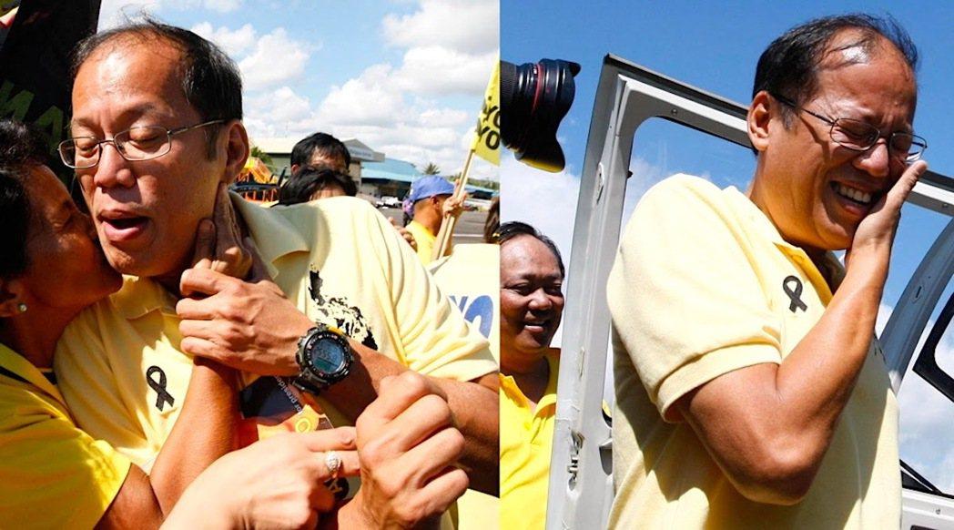 唯有正視艾奎諾的歷史評價,才能理解其在菲國政壇中之特別存在。圖為2010年,激動...