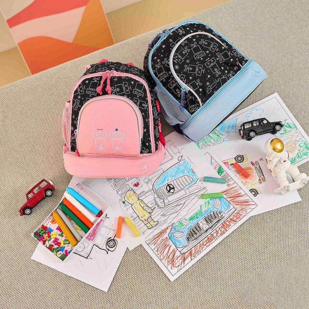 只要分享家中寶貝的著色車圖或是立體彩繪小車就有機會獲得後背包。 圖/台灣賓士提供