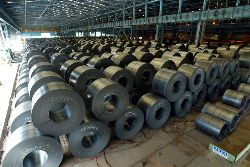 圖為中鋼生產的鋼捲。記者劉學聖/攝影