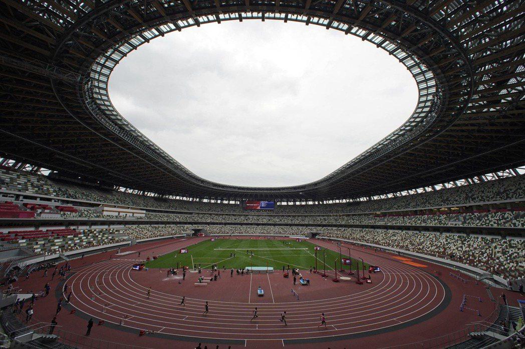 東京奧運主場館。美聯社