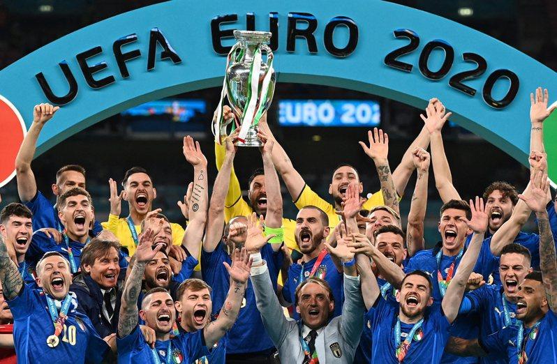 義大利奪下歐國盃冠軍。 歐新社