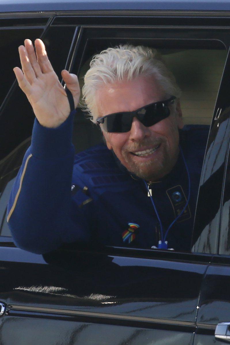 英國億萬富豪布蘭森(Richard Branson)。 路透社
