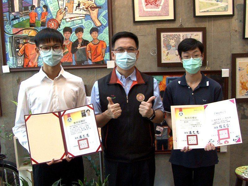 瑞芳高工技職亮眼,本學年累積至今已有兩位學生錄取技職第一志願台灣科大,四位錄取台北科大。 圖/觀天下有線電視提供