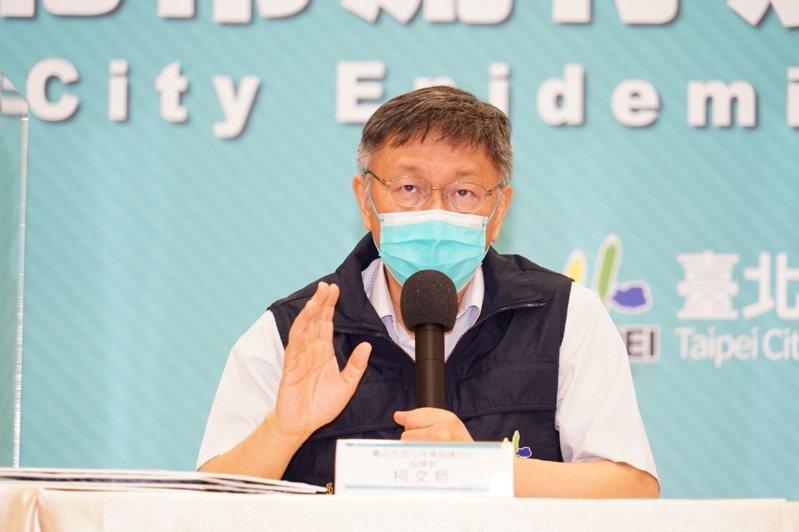 前立委孫大千批說基隆市長林右昌連番批評是想選台北市長想瘋了,台北市長柯文哲回說,大家也曉得,笑一笑就好。圖/北市府提供