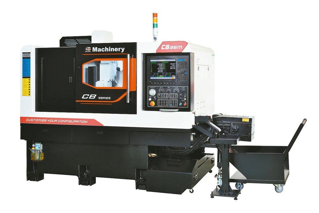 CB走刀式車銑複合機深受小型精密零件加工業者青睞。洽群/提供