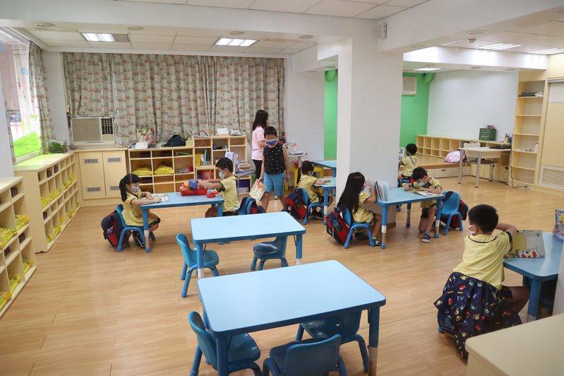 台北市今宣布幼兒園、課照中心、學校中小學操場逐步解封,圖為幼兒園示意圖。聯合報系資料照片/記者葉信菉攝影