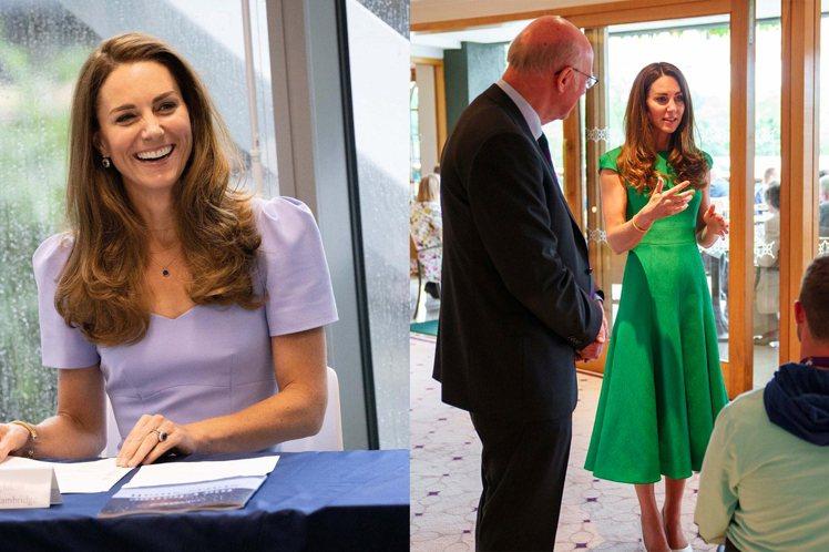 凱特王妃在出席公開活動,多是選擇素色洋裝現身。圖/摘自instagram、fac...