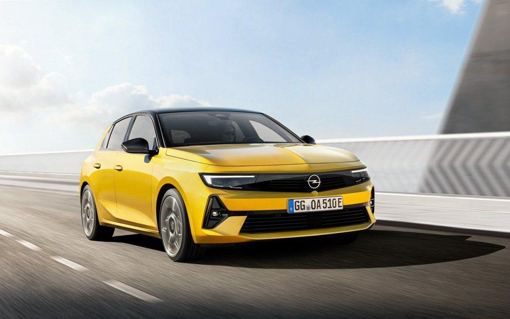 全新2022 Opel Astra。 摘自Opel