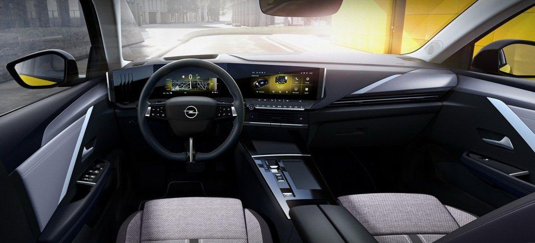 Opel Astra內裝也跟上現代潮流。 摘自Opel
