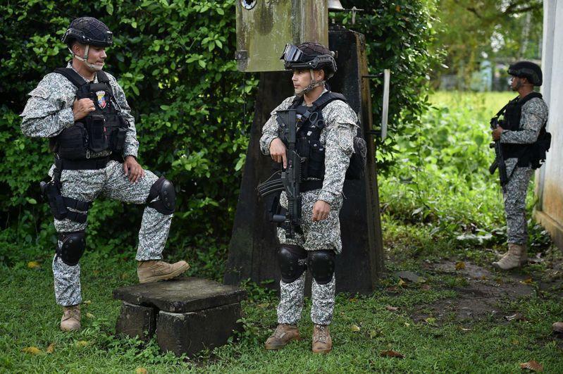 哥倫比亞部隊每年都有上萬人退伍,為全球傭兵市場提供人力。法新社