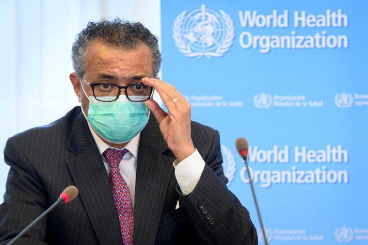 世界衛生組織秘書長譚德塞。路透