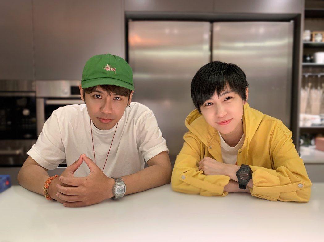 鼓鼓(左)和魏嘉瑩再度合作。圖/相信音樂提供
