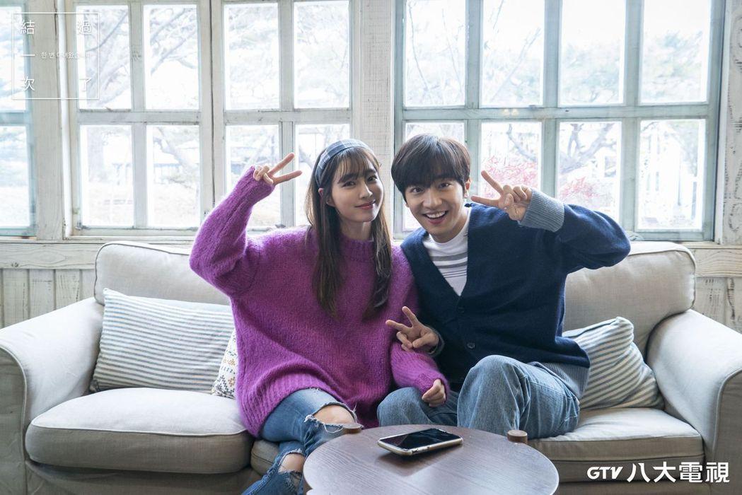 李珉廷(左)、李相燁在「結過一次了」戲中螢幕CP獲得外界好評。圖/八大電視提供
