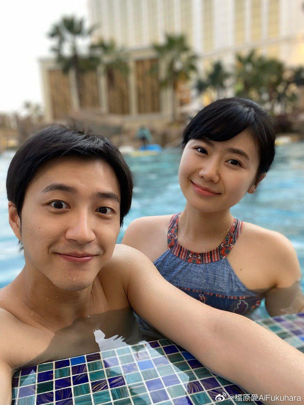 江宏傑(左)、福原愛日前結束5年的婚姻。圖/摘自微博