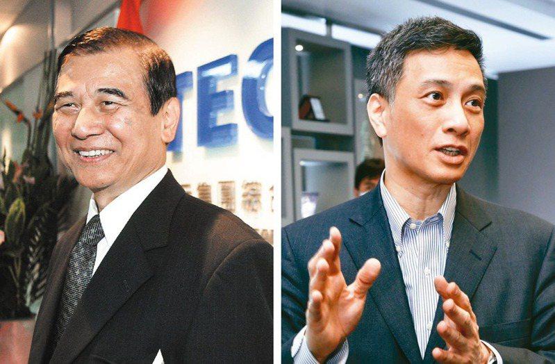 東元會長黃茂雄(左)和其長子黃育仁(右)。圖/聯合報系資料照片