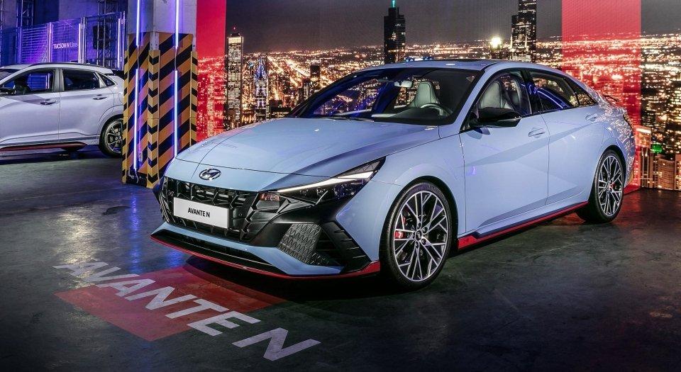 全新Hyundai Avante/Elantra N性能房車正式發表。 摘自Hy...