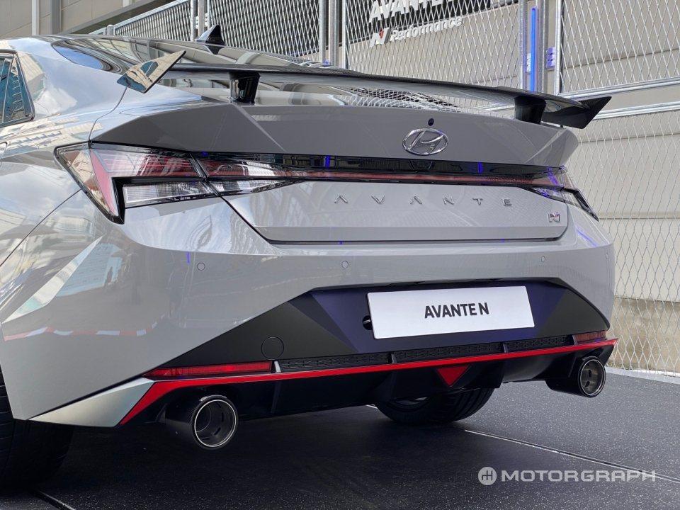 全新Hyundai Avante/Elantra N。 摘自Motorgraph...