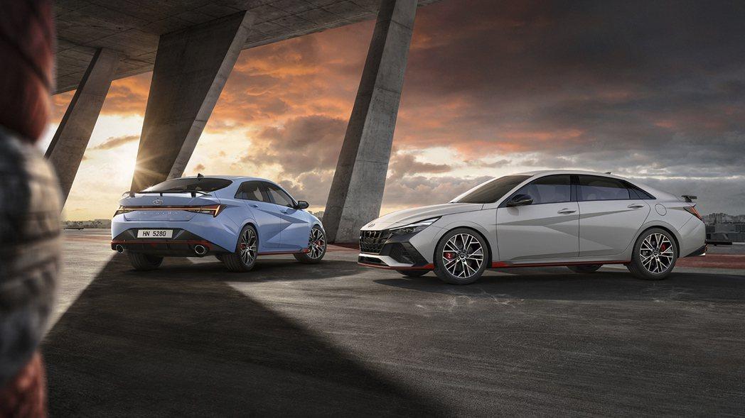 全新Hyundai Avante/Elantra N。 摘自Hyundai