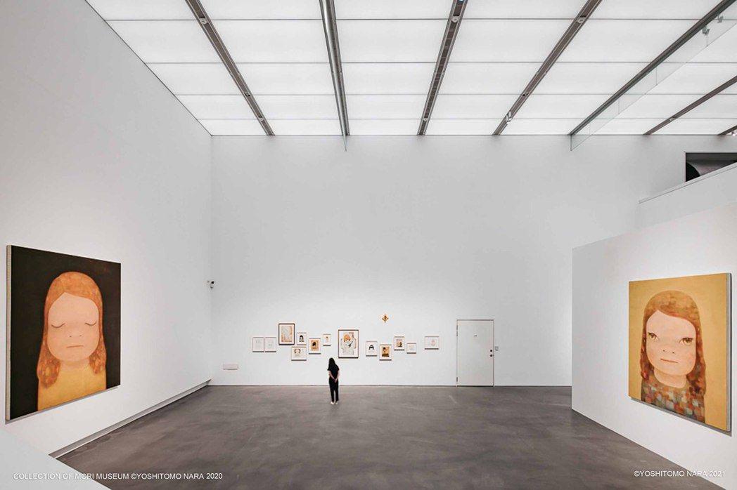 高美館《奈良美智特展》展場一景。 圖/主辦單位文化總會、高雄市立美術館提供・©Y...