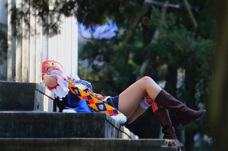 日本的資深御宅族說,Cosplay玩家得保持身材才能一直穿得下特製服裝。在台北街頭外拍的Cosplay玩家。圖/聯合報系資料照片