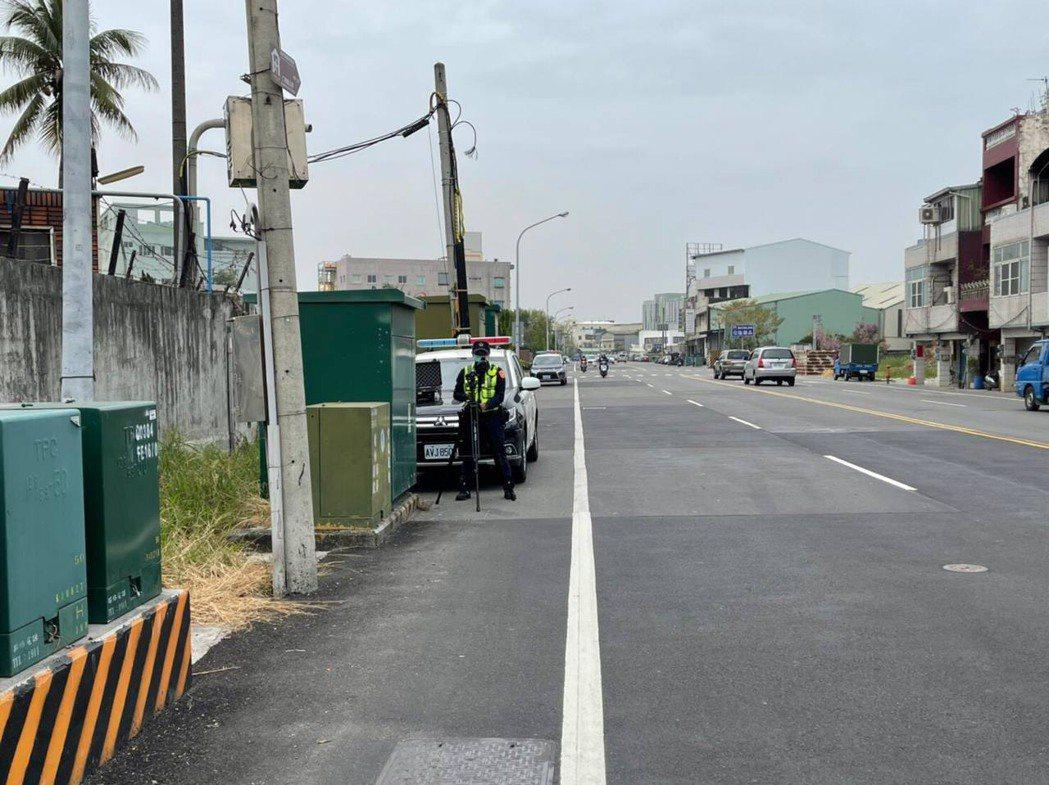 台南市仁德區中正路為超速易肇事路段,警方將增設不定時測速照相加強取締。圖/歸仁警...