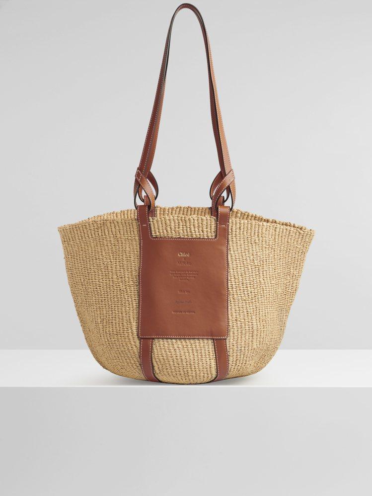 Basket國際公平貿易組織合作編織包,27,600元。圖/Chloé提供