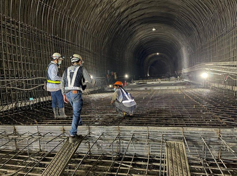 防淤隧道訂明年5月完工。圖/北區水資源局提供