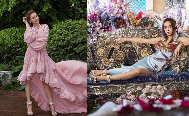 JIMMY CHOO本季推出多款珍珠裝飾的高跟鞋,讓張柏芝、蔡依林等女星紛紛搶穿...