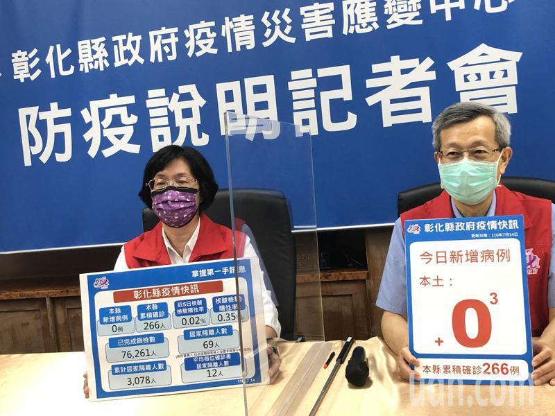 彰化今天召開防疫說明記者會,沒有新增確診個案。記者林敬家/攝影