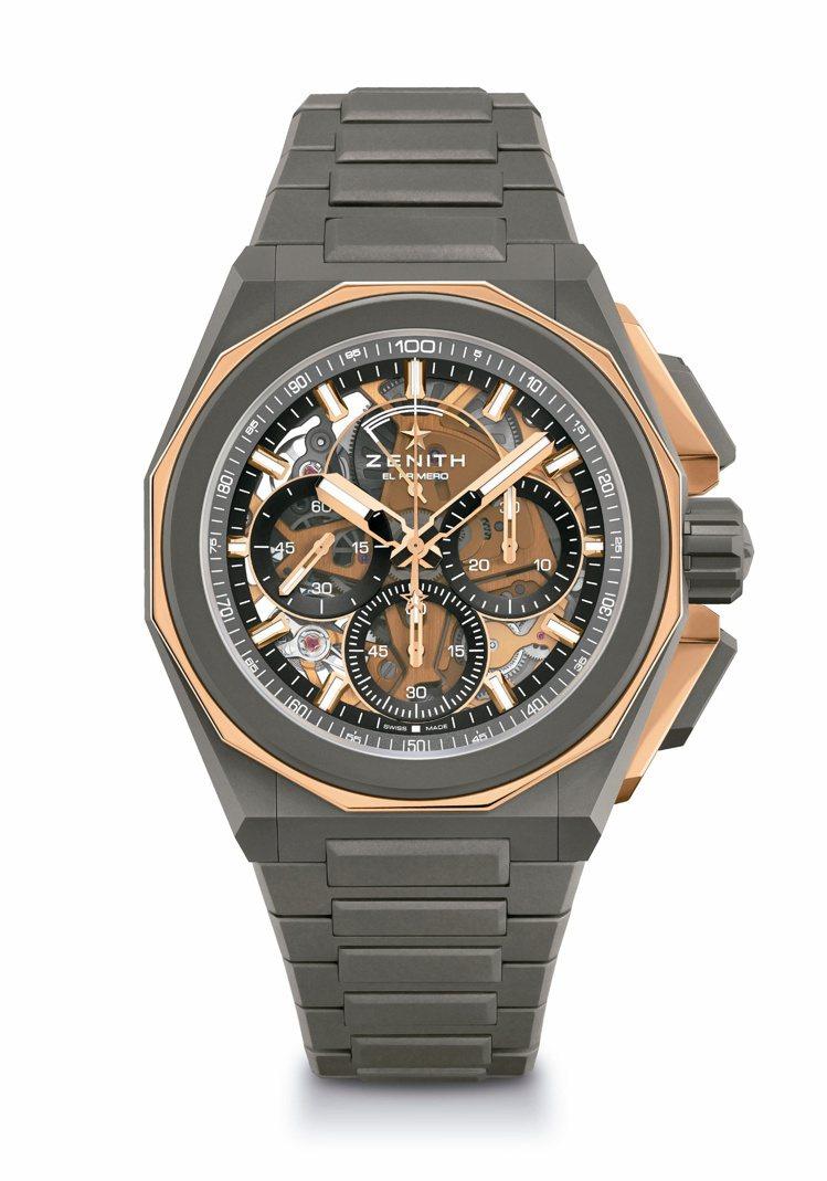 肖戰在廣告片中配戴的真力時DEFY EXTREME腕表,71萬1,300元。圖/...