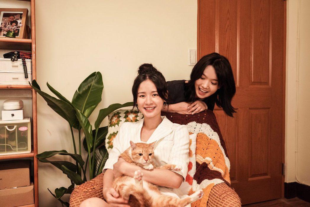袁子芸(左)、嚴正嵐在「我的老闆是隻貓」戲中飾演閨蜜。圖/七十六号原子、myVi...